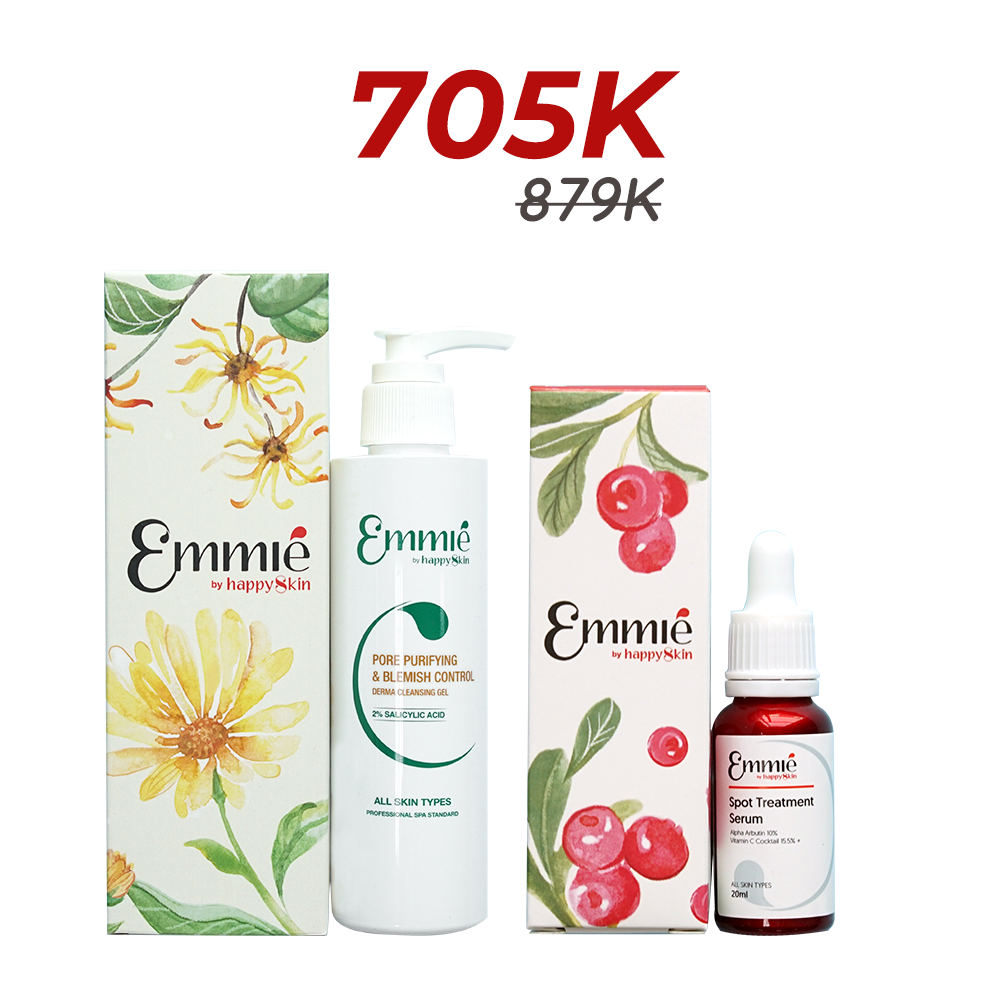 Emmie Spot treatment serum and Cleansing Gel Limited edition