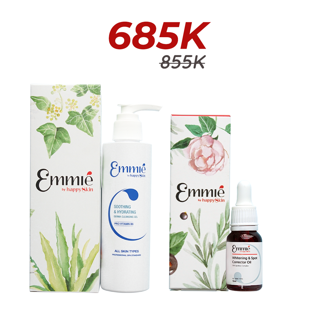 Emmié whitening & spot corretor oil and Cleansing Gel limited edition