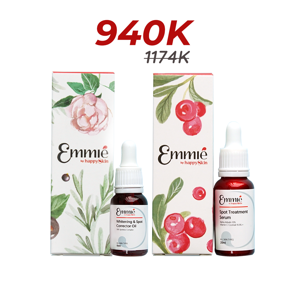 Emmie whitening & spot corretor oil and Emmié Spot treatment serum Limited edition