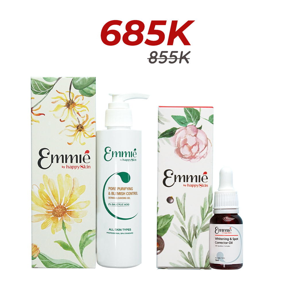 Combo Whitening & Spot Corretor Oil and Pore Purifying & Blemish Control Derma Cleansing Gel Limited Edition